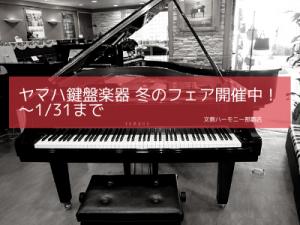 ヤマハ鍵盤楽器 冬のフェア開催中! 1/31まで